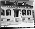 VIEW OF FACADE, SHOWING ROOF DORMERS - Emelie Grosse House, Columbia, Monroe County, IL HABS ILL,67-COLUM,1-12.tif