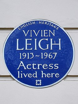 Photo of Vivien Leigh blue plaque