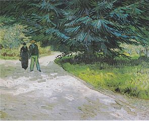 Couple in the Park at Arles - The garden of the poet III