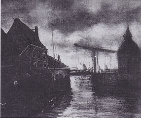 View of a Town with Drawbridge