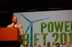 Van Jones - Jones speaking at Power Shift 2011, an annual youth summit, in Washington, D.C. on April 15, 2011