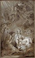 Van LOO Carle 1750-51 L'adoration des anges Esquisse.jpg