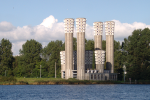 Ventilation shaft - Ventilation shafts of the Velser tunnel, the Netherlands