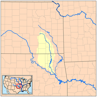 Verdigris River - Image: Verdigrisrivermap