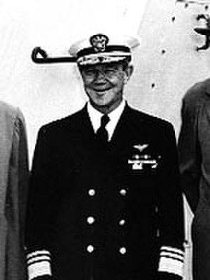 Gerald F. Bogan - Image: Vice Admiral Gerald F. Bogan aboard USS Valley Forge (CV 45)
