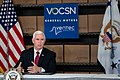 Vice President Pence at GM Ventec Ventilator Production Facility (49842530847).jpg