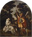 """Vicente Carducho-""""Encuentro de san Bruno con Roger I de Sicilia"""". Cartuja del Paular Museo del Prado.jpg"""