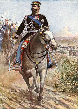 Victor Emmanuel II of Italy - Victor Emmanuel reviews the troops for the Crimean War