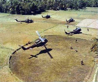 Operation Masher - A landing zone for American troops north of Bong Son.
