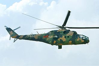 Vietnam People's Air Force - A Mi-24 fly over