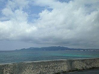 Motobu Peninsula - View of the Motobu Peninsula from Onna, Okinawa
