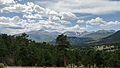 View of Rocky Mountains National Park from US-36, looking SW 20110824 1.jpg