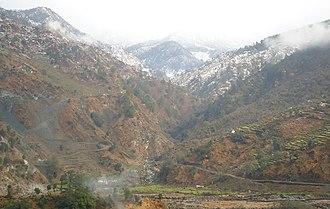 Bajura District - Image: View of mountain