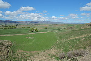 Ida Valley - View over Ida Valley in spring