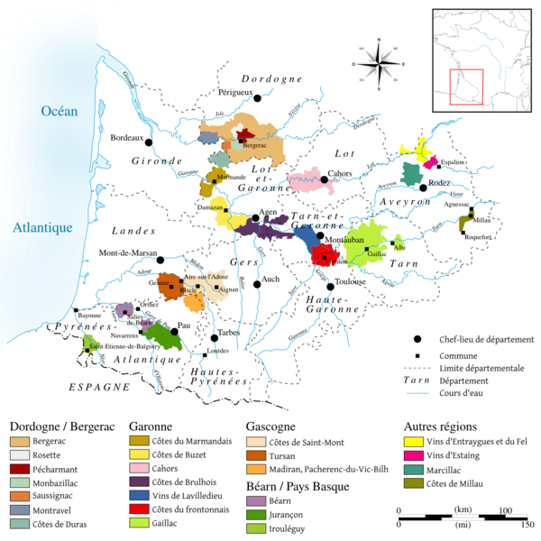 Map Of West France.South West France Wine Region Wikiwand