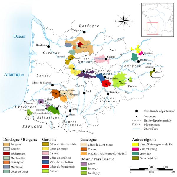 Vineyards around Toulouse