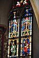 Viktring Stiftskirche Glasmalereien rechtes Fenster Apostel oberster Teil 07052011 336.jpg