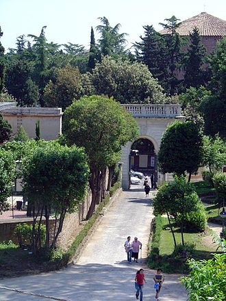 Villa Celimontana - Entrance, photographed from inside the park