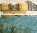 Villa di livia, affreschi di giardino, dettaglio degli stucchi sulla parete orientale.jpg