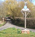 Village sign and lane heading north at Brent Eleigh - geograph.org.uk - 724601.jpg