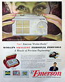 Vintage Radio Advertising - Emerson Pocket Radio, Model 747, Subminiature Tubes, Circa 1953 (9701501087).jpg
