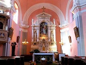 Visitation of Mary Church (Ljubljana) - Image: Visitation Church Ljubljana chancel