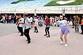 Visitors Dancing with Anime Songs at Expo Doom Court 20150829.jpg