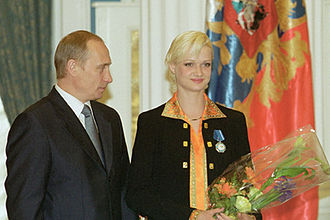 Svetlana Khorkina - Khorkina received the Order of Honour from Russian President Vladimir Putin on 8 June 2001.