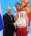 Vladimir Putin and Anton Shipulin 24 February 2014.jpeg