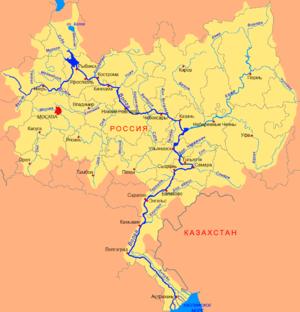 Kostroma River - Image: Volga basin