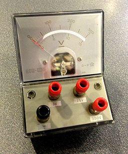 Voltmeter in classroom
