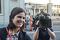 Vrouwelijke verslaggever Nederland Den Haag.jpg