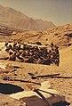 Vultures on Lhasa sky burial rock 3.jpg
