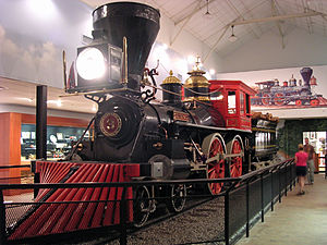 The General (locomotive) - Western and Atlantic Railroad No. 3: The General, on display in Kennesaw, Georgia