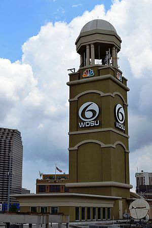 WDSU - WDSU's iconic studio tower (2014)