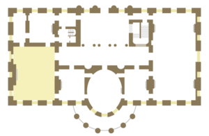 State Dining Room of the White House - White House State Floor showing the location of the State Dining Room.