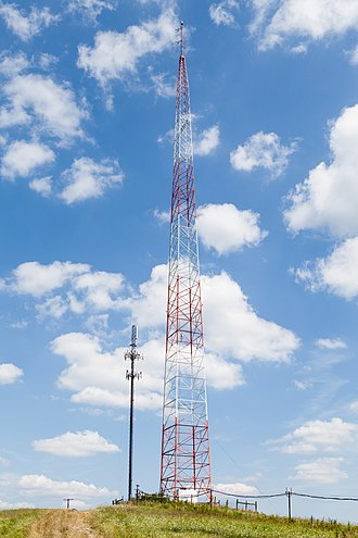 WJPA - WJPA/WJPA-FM broadcast tower, located near the intersection of Interstates 79 and 70 in Washington, Pennsylvania.