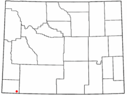 Location of Lonetree, Wyoming