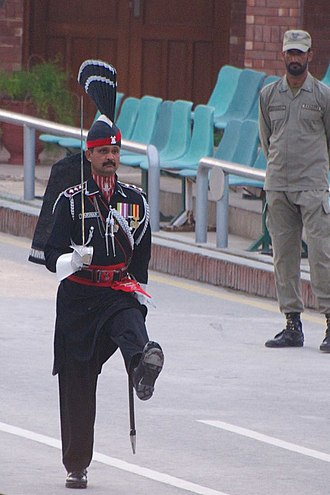 Paramilitary forces of Pakistan - Image: Wagah border ceremony 2015 01