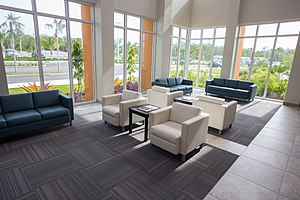 Health City Cayman Islands - Waiting Room Flooded with Natural Light