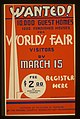 Wanted! 10,000 guest homes, 1000 furnished houses for World's Fair visitors by March 15 LCCN98516768.jpg