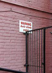 Anti-climb paint - Wikipedia