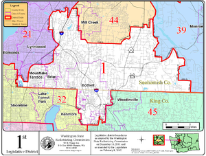 Washington's 1st legislative district - 1st Legislative District Map, 2002-12