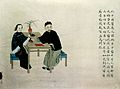 Watercolour, Chinese doctor feeling the pulse of a patient. Wellcome L0004700.jpg