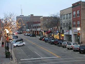Waukegan, Illinois - Image: Waukegan Downtown During the Holidays