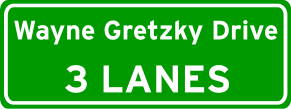 English: Wayne Gretzky Drive roadsign.
