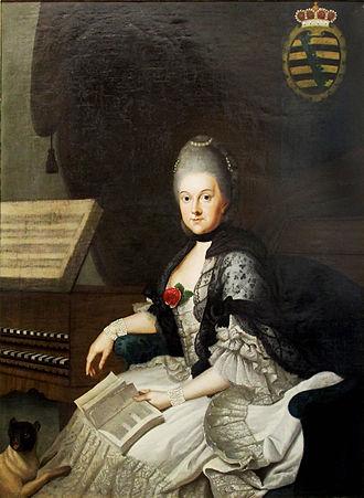 Duchess Anna Amalia of Brunswick-Wolfenbüttel - Image: Weimar Anna Amalia Bibliothek@Anna Amalie von Sachsen Weimar (1)