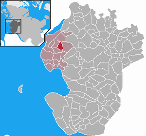 Wesselburen - Image: Wesselburen in HEI