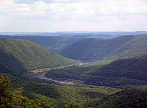 West Branch Susquehanna Valley - West Branch Susquehanna Valley, seen from Hyner View State Park in Clinton County