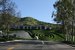Ornate landscaping in front of a Westlake Village office building